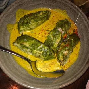 Market fish with bengal mustard cream